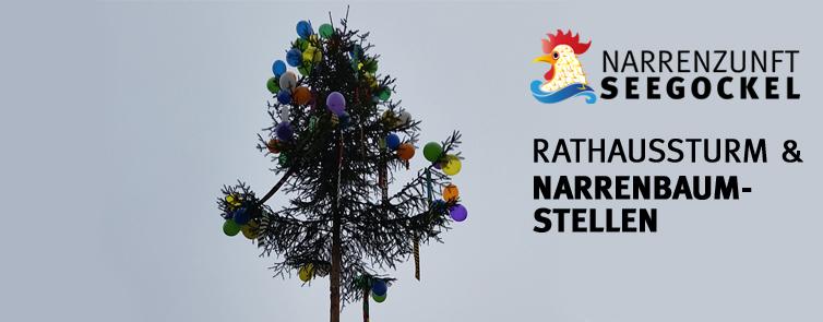 Rathaussturm und Narrenbaumstellen